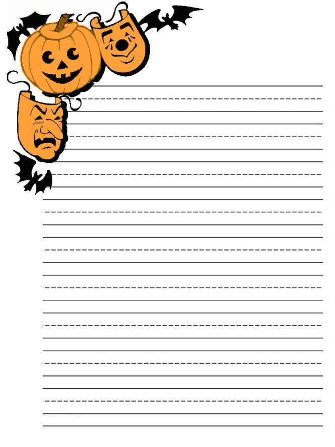 halloween writing online
