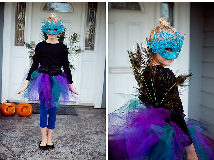 diy peacock with masquerade mask