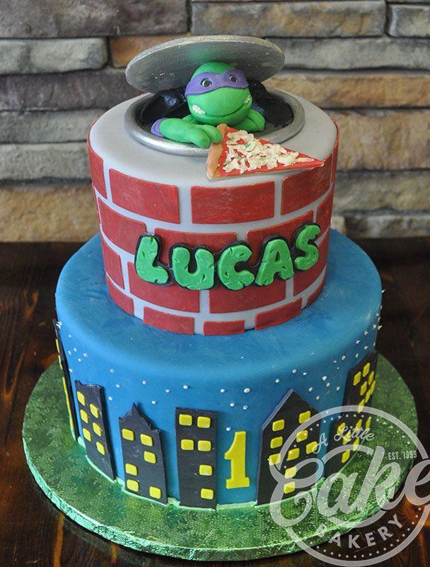 Peachy Kids Cakes Kids Cake Turtle Birthday Cake Ninja Turtle Funny Birthday Cards Online Inifofree Goldxyz