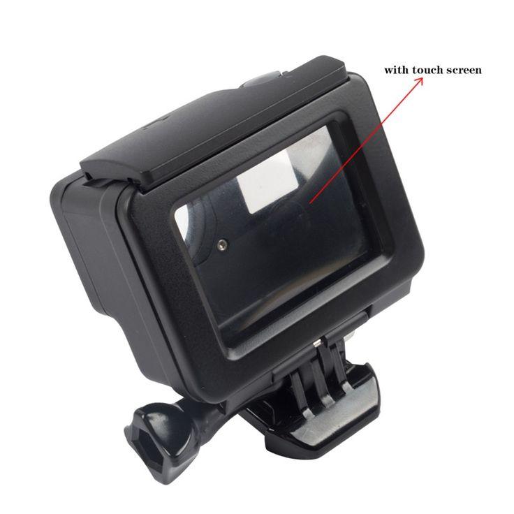 GoPro Hero 4 Underwater Waterproof Housing Case Replacement for Go Pro Hero 4 Camera Black silver edition