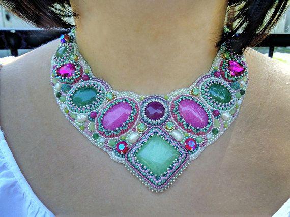 designer upicycle jewelry trendy bib necklace handmade necklace art jewelry designer inspired jewelry statement necklace gift ideas
