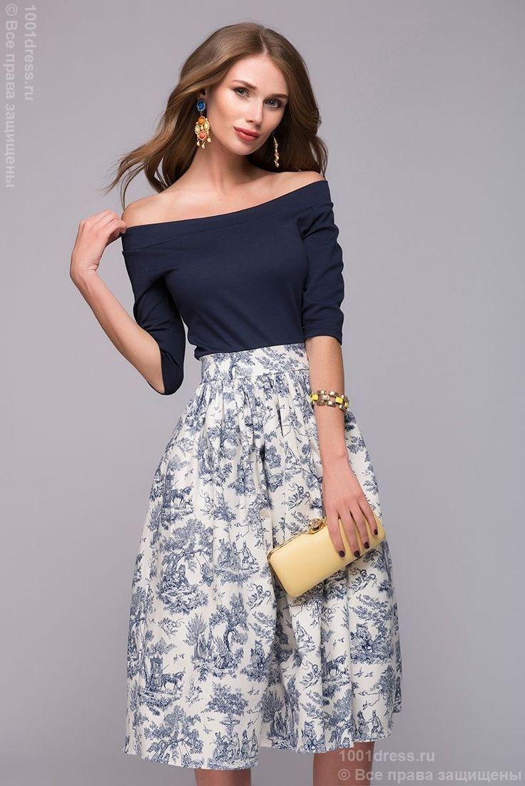 """Одежда в морском стиле может быть романтичной и элегантной, как это платье с эффектом """"2-в-1"""" — http://fas.st/uEDc48"""