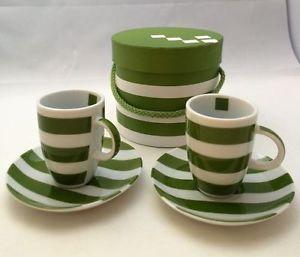 "Espressotassen Set ppd ""Stripe green"""