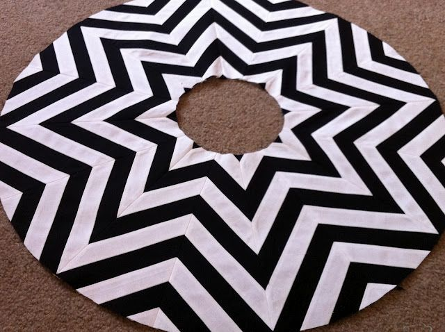 i know this pattern is for a girls skirt, but this same concept would make a fabulous Christmas tree skirt!