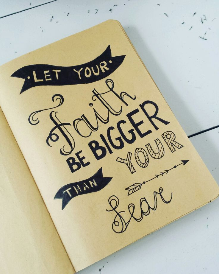Handlettering Let your Faith be bigger than your fear