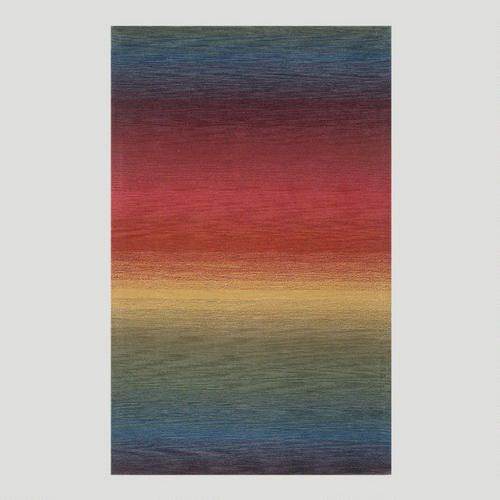 "One of my favorite discoveries at WorldMarket.com: Ombre Stripes Multi Wool Rug/ for hallway runner but maybe too large 27"" by 8 feet. Rainbow!"