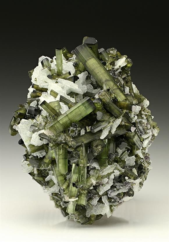 Tourmaline with Albite from one of the many Gem Pegmatite veins in the Governador Valadares area Minas Gerais, Brazil.