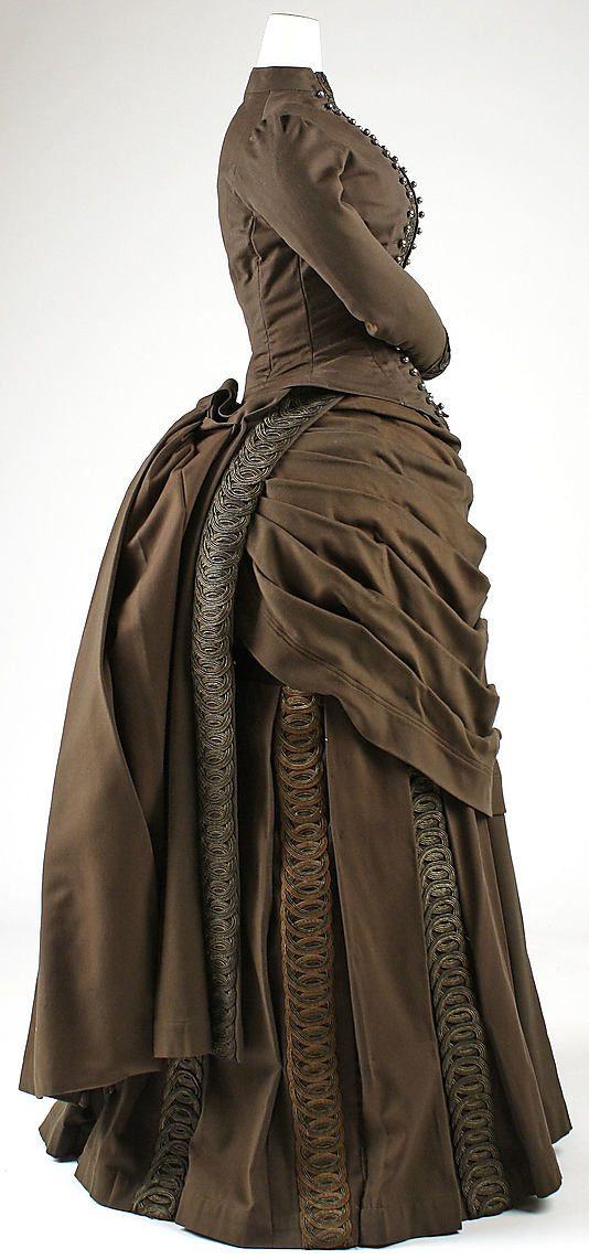 Ensemble, dress and jacket, 1887 - 1889 The Metropolitan Museum of Art  #1880s #victorian