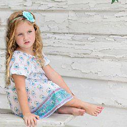 Girls Samsara Dress - Jaipur Print - HaveliShop at: www.angelfishdragonfly.com.au