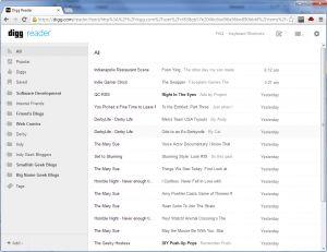 Digg has released their Google Reader alternative, Digg Reader.