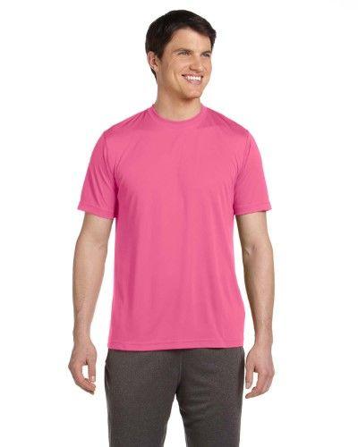 Alo Sport Men's Short-Sleeve T-Shirt. M1009-Sport Chrty Pink-M, Size: Medium, Pink