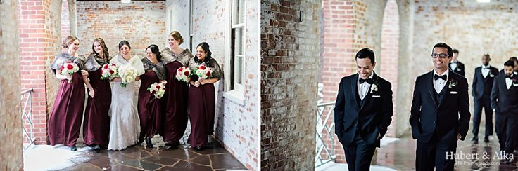 New Haven Lawn Club Winter Wedding by KH Photography | Lighting by Correlation Productions