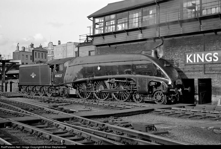 London and North Eastern Railway Class A4 at Kings Cross Station London,  by Brian Stephenson
