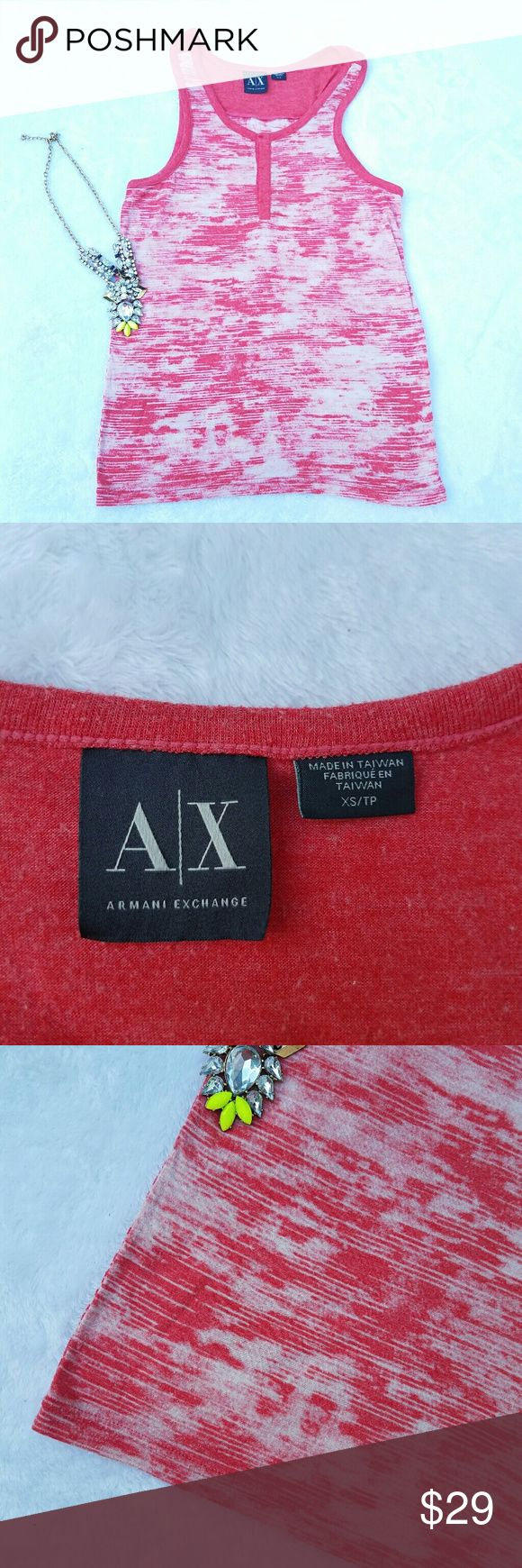 AX Armani Exchange Red White Size xs Tank Top AX Armani Exchange Red White Size xs Tank Top   . Size xs  . Brand AX  . Condition Great   . Fit smooth  . Style tank top  . Color red white  . Fabric? tag posted:)  . Machine wash low tumble dry  . Bundle & SAVE 25% off  No additional shipping charge when you purchase more from my closet. Armani Exchange Tops Tank Tops