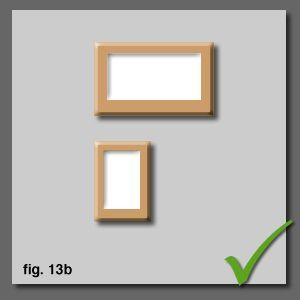 How To Hang And Align Pictures Correctly On A Wall : horizontals and landscapes above verticals