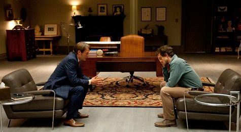 Hannibal Lecter and Will Graham in Hannibal in the recap for Hannibal Episode 1.02