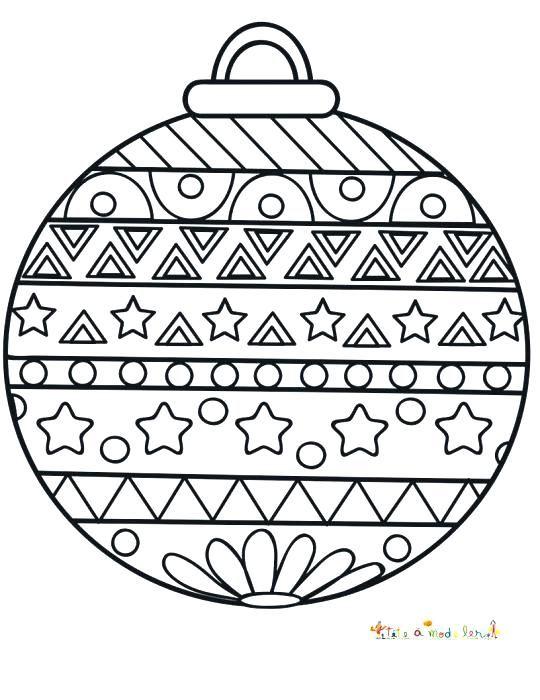 Coloriage Boule De Noel Mandala Boże Narodzenie Christmas Colors