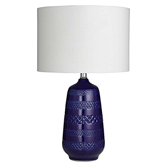 With its deep lapis-lazuli-blue base and decorative detailing, the Poppy Table Lamp from Amalfi will up the elegance-factor of any space.