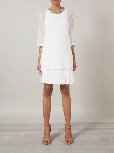 3.1 PHILLIP LIM - embellished layered t-shirt dress