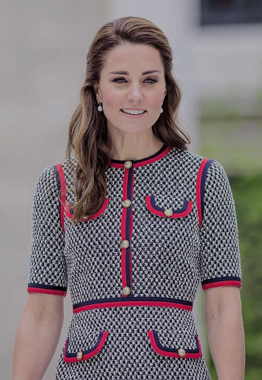 The Duchess is fond of recycling her outfits, but today she wowed in a new addition to her wardrobe - a Gucci tweed dress costing £1,790.