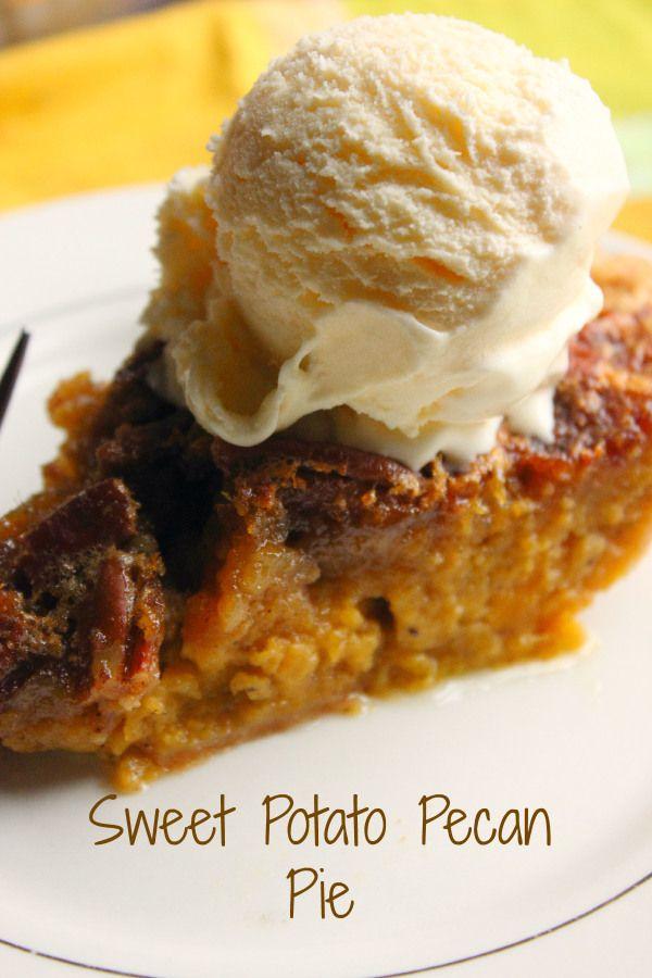 Sweet Potato Pecan Pie with Vanilla ice cream, SOUTHERN HEAVEN!