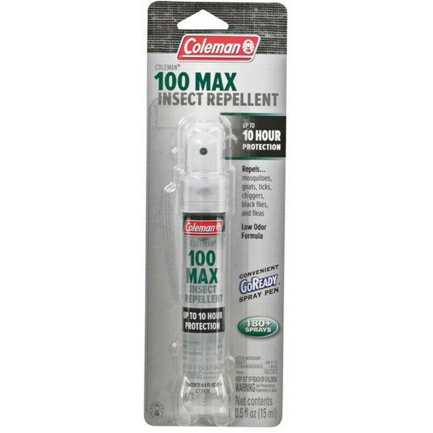 COLEMAN 100 MAX 100% DEET INSECT REPELLENT SPRAY - Repels Mosquitoes, Flies, etc #Coleman