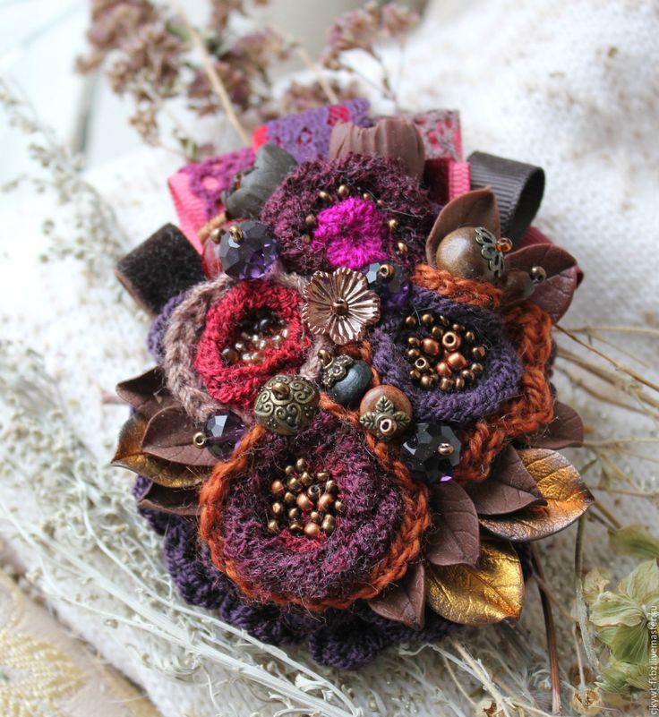 Handmade fabric brooch / Брошь.Ежевичная сказка. . Бохо романтика. - бордовый, фиолетовый, ежевика, волшебные украшения, волшебство