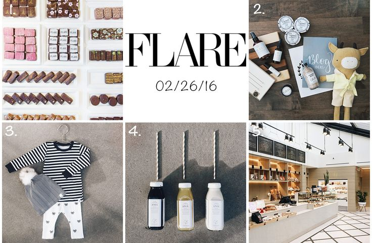 """Thank you to blogger Ania B for showcasing Little Blue Canoe in her February edition of Flare Magazine's """"Localist"""" Highlights!"""