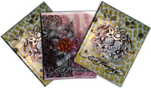3 STÜCKE ED HARDY A5 Schreibheft Schulheft 2 X GOLD und 1 X in ROSA Farbe Ed Hardy, http://www.amazon.de/dp/B006KM8K9U/ref=cm_sw_r_pi_dp_xdL9sb1MHB18R