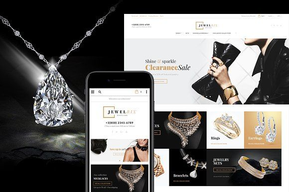 Jewelry Store Magento 2 Theme by Jetimpex on @creativemarket