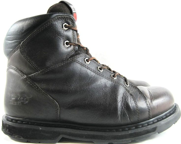Timberland Men Leather Boots Size 9.5 M Black Style 31001.  ABA 4 #Timberland #Work