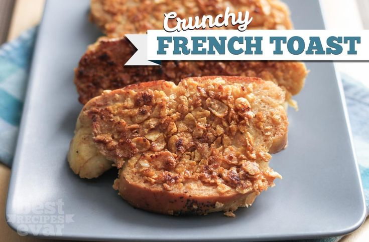 No matter if you use Corn Flakes or Frosted Flakes this is a great use of unwanted cereal that your kids will love. Crunchy french toast is the way to go! - BestRecipesEvar.com