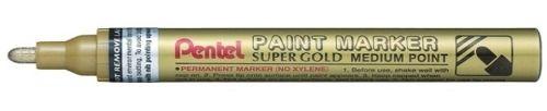 pentel marcador permanente paint marker dourada- ponta média