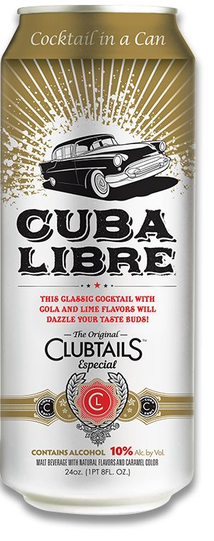 Clubtails Especial is a flavored malt beverage that tastes like a Cuba Libre with rum, coke and lime flavors. Find it at your local convenience store.