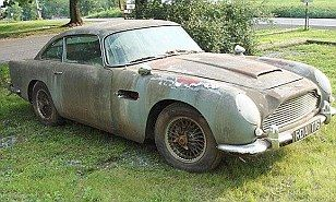 A DB5 Aston Martin has been rusting away in a barn for the last 20 years but is still set to sell for £200,000.
