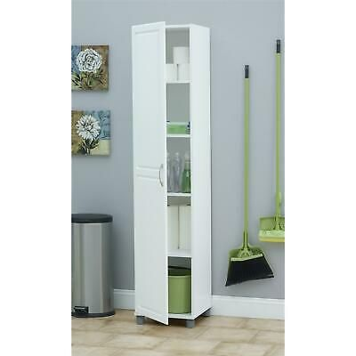 Best Details About White Pantry Storage Cabinet Shelving 640 x 480