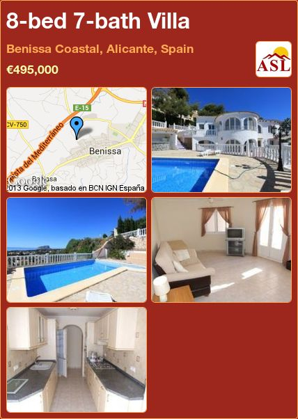 8-bed 7-bath Villa in Benissa Coastal, Alicante, Spain ►€495,000 #PropertyForSaleInSpain