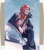 Lt. Col. James Jabara, United States Air Force 1943-1966.  This artwork is part of the Patriots and Peacemakers:  Arab Americans in Service to Our Country exhibit at the Arab American National Museum through August 12, 2012.