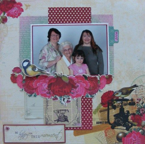 Family page created by Rosemary with Kaisercraft Telegraph Road collection for My Scrappin' Shop.