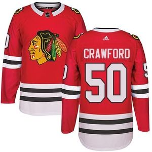 Adidas Blackhawks #50 Corey Crawford Red Home Authentic Stitched NHL Jersey