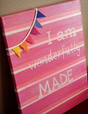 """I love these words. """"I am wonderfully made"""" taken from Psalm 139. Everyone needs to paint a canvas!Quote, Paint Canvas"""