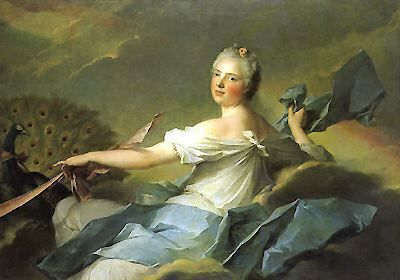 Madame Adelaide de France (daughter of Louis XV) as Air  by Jean-Marc Nattier