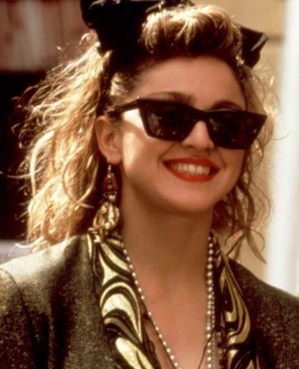 Madonna in Desperately Seeking Susan Everyone in this movie is desperately seeking Susan—and Susan's smartly-accessorized, wild new-wave hair.