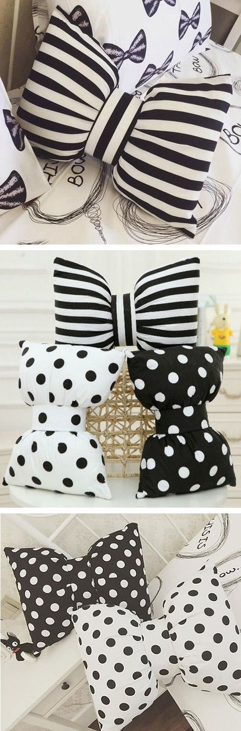 cUte Bowknot Pillows ❤︎ Sorry no pattern it's a pillow to buy - I think you can make one pretty easy - I need to make one ! Cute Idea !
