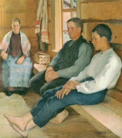 Pekka Halonen, Pyhäpäivä uudistalossa (1894)