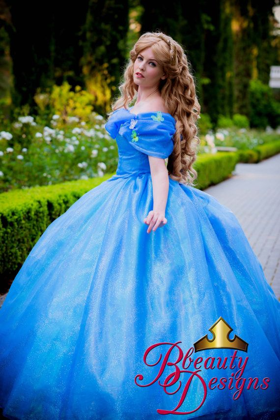 cinderella new 2015 live action inspired gown with