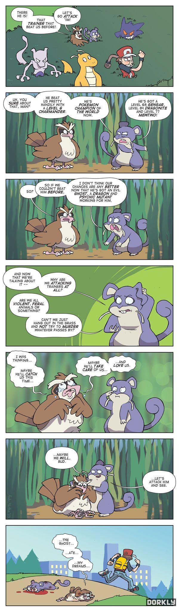 Lo mismo nos captura esta vez, se ocupa de nosotros, y nos quiere... Pokemon - Dorkly (600×2040)