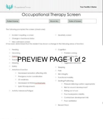 How To Perform An Occupational Therapy Screening For Adult Activitie Howto Paraphrase The Cap