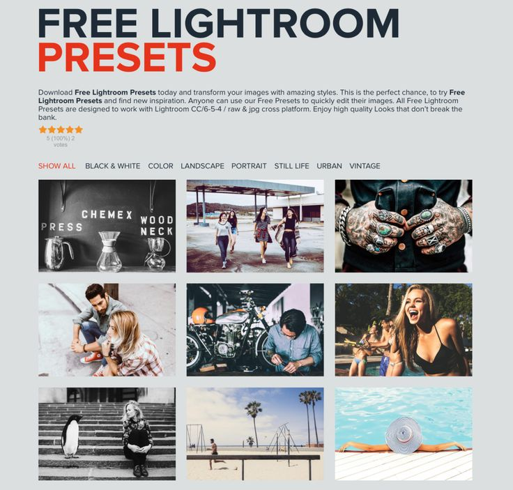 Free Lightroom Presets download