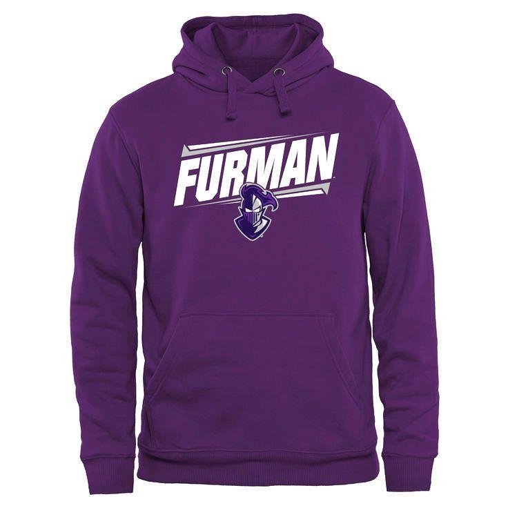 Furman Paladins Double Bar Pullover Hoodie - Purple - $44.99